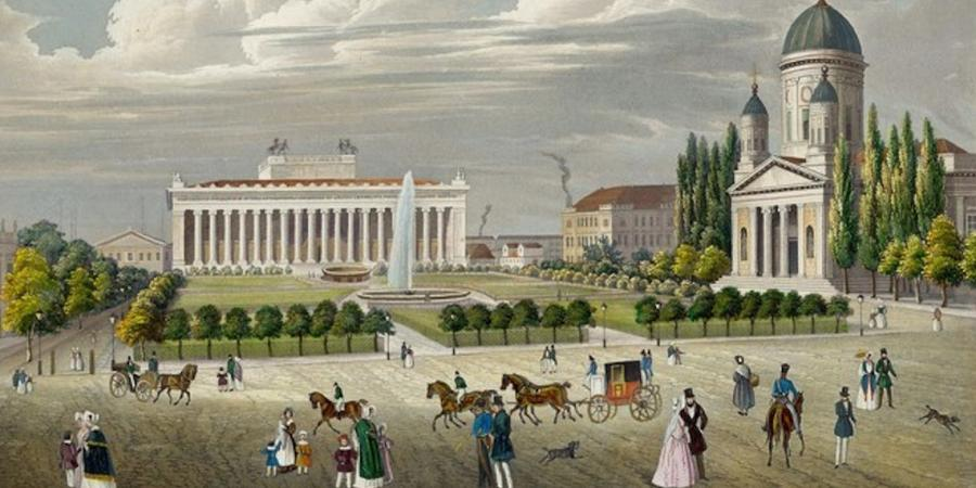 Wilhelm Schröder (1817-1871) The Lustgarten with the Museum and the Dom in Berlin, 1843 Stahlstich © Stadtmuseum Berlin