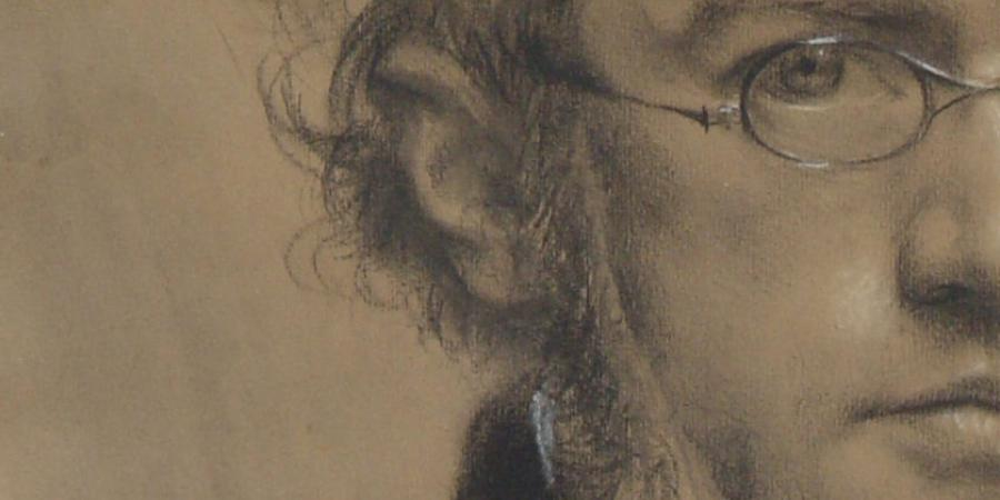 Adolph Menzel, Self-portrait, 1853 | black chalk © Stadtmuseum Berlin