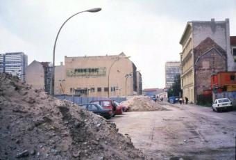 Berlin Wall debris on Zimmerstraße in Mitte, 22 June 1990