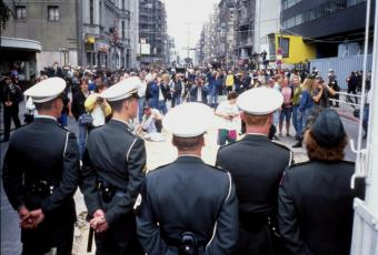 US sentries at Checkpoint Charlie on Friedrichstraße, 22 June 1990