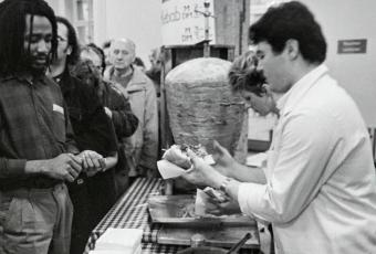 Photo of Kebap sale in Humboldt-University, East Berlin1990