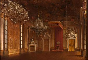 The Knight's Hall (Throne Room) in the Berlin Palace, ca. 1844, painting by Eduard Gaertner © Stadtmuseum Berlin