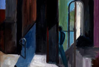 """Wolfgang Leber: """"Room with Arched Window"""" (""""Raum mit Bogenfenster""""), 1997, oil, 60 x 50 cm © Stadtmuseum Berlin 