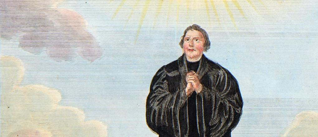 Martin Luther, depicted by Veit Hanns Schnorr von Carolsfeld, engraving by von August Dietz (detail), ca. 1835 © Stadtmuseum Berlin