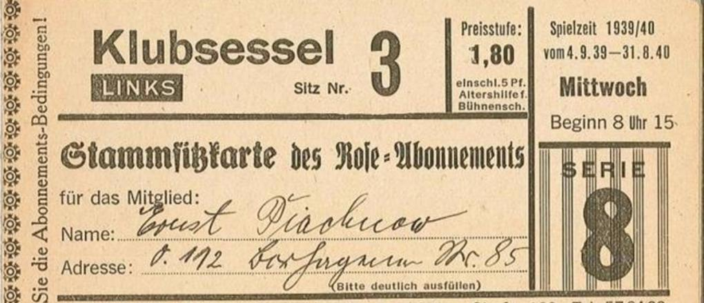 Symbolic photo of a historic Berlin theater ticket